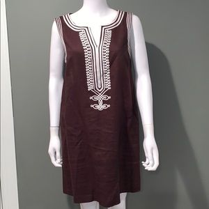 Michael Kors WOMANS brown linen dress SZ.12